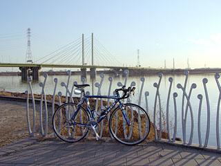 幸魂大橋と彩湖