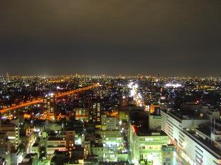 大阪市方面の夜景