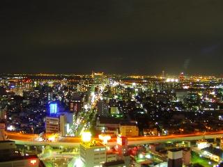 堺駅・港方面の夜景