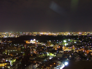 仁徳天皇陵方面の夜景
