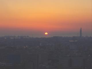 堺港に沈む夕日