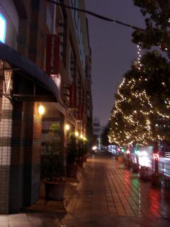 オーバルコート大崎のクリスマスイルミ