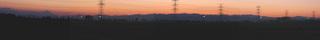 富士山・秩父連山の影絵