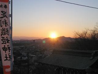 織姫神社の夕日