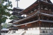 西院伽藍(五重塔・金堂)<br />
