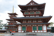 薬師寺伽藍(西塔と金堂)