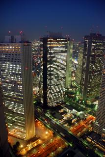 新宿副都心の超高層ビル群