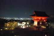 仁王門と京都の夜景
