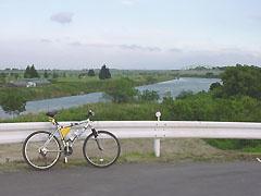 上江橋付近にて