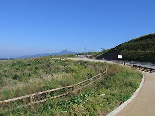 俵山トンネル付近の風景