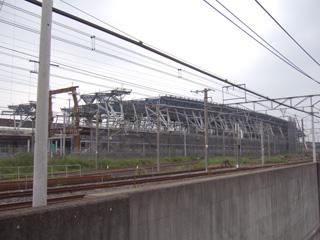 建設中の鉄道博物館