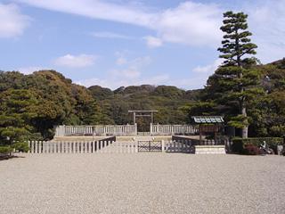 仁徳陵の拝所