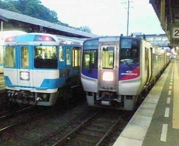 徳島駅にて